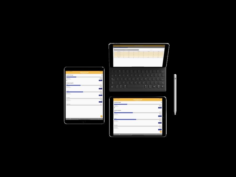 projekt menedzsment szoftver költségkövetés funkció ipad tableteken