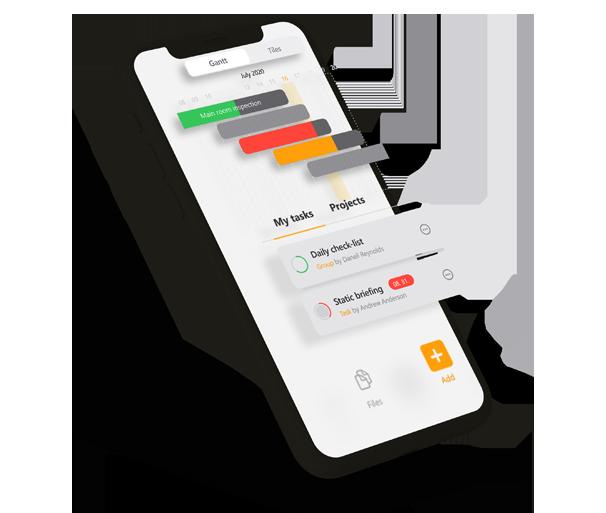 projekt menedzsment szoftver Gantt diagram Iphone telefonon