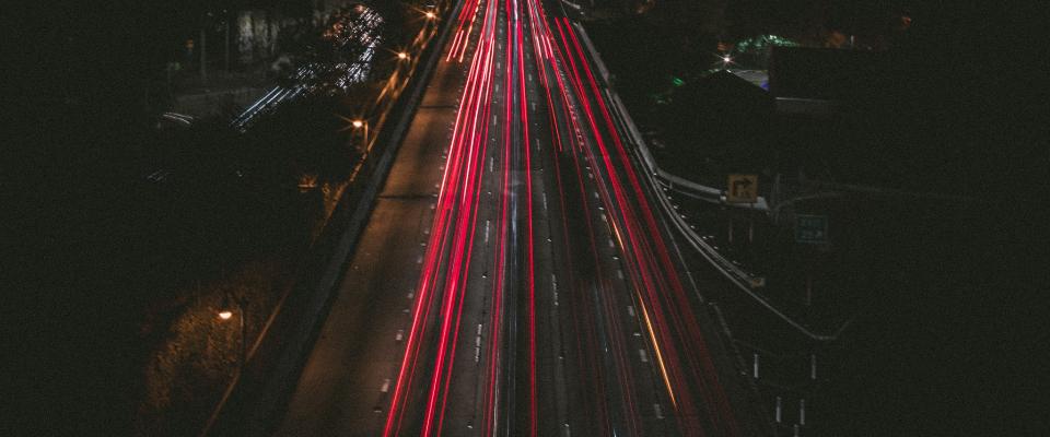 forgalmas autópálya hosszú záridővel