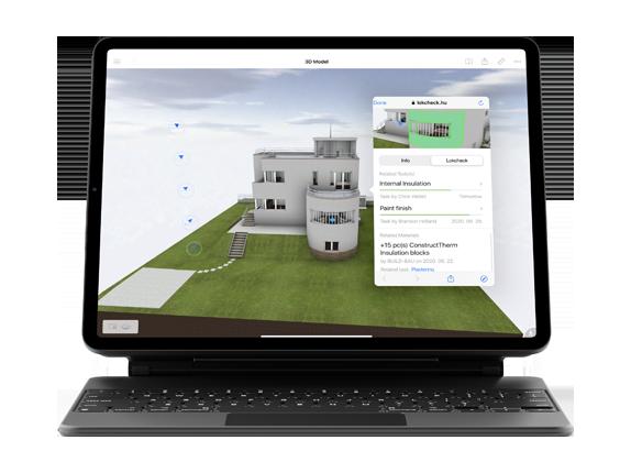 projekt menedzsment szoftver BIMx funkció Ipad tableten