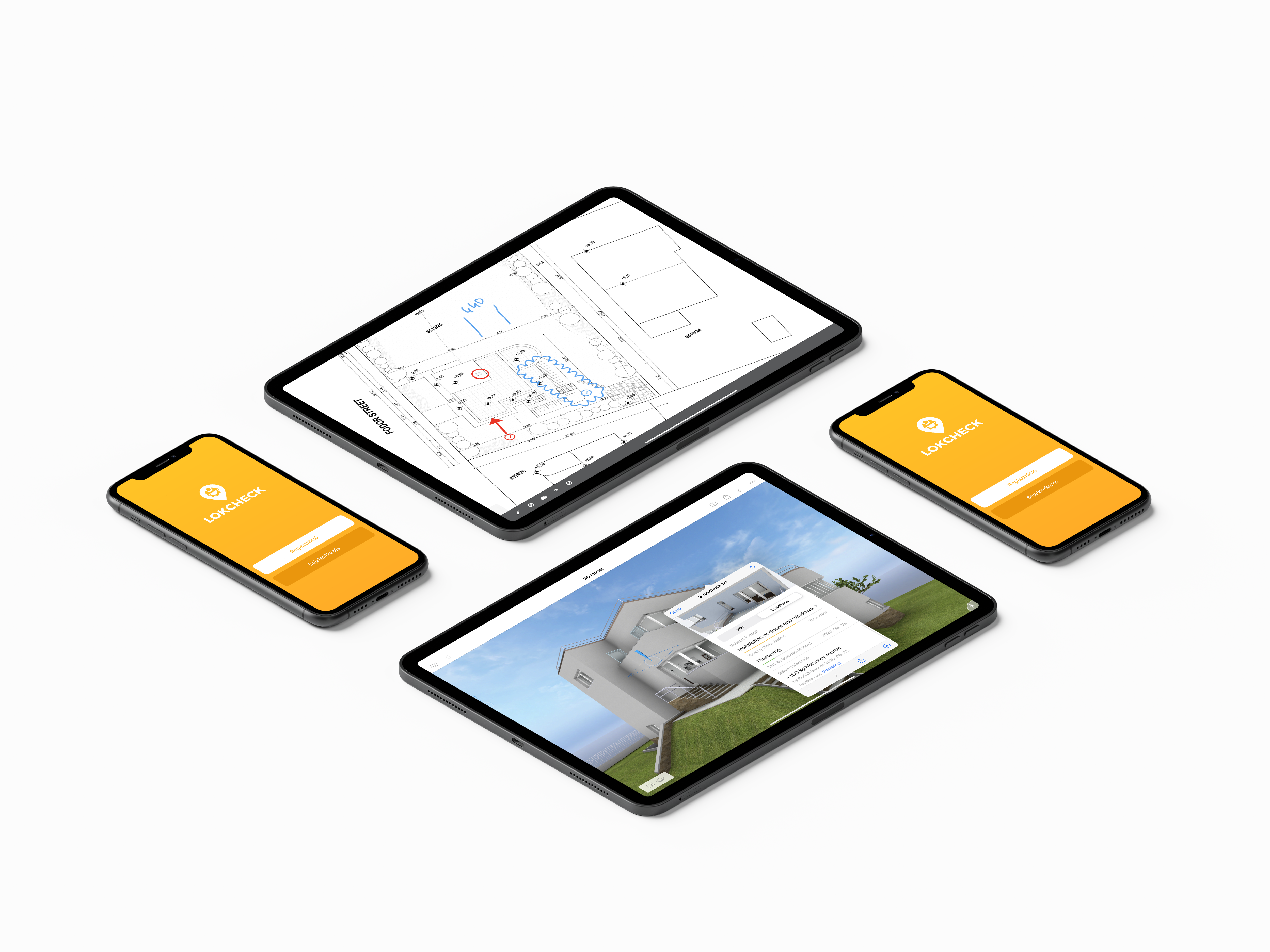 project management software BIMx feature on ipad tablet and iphone phone