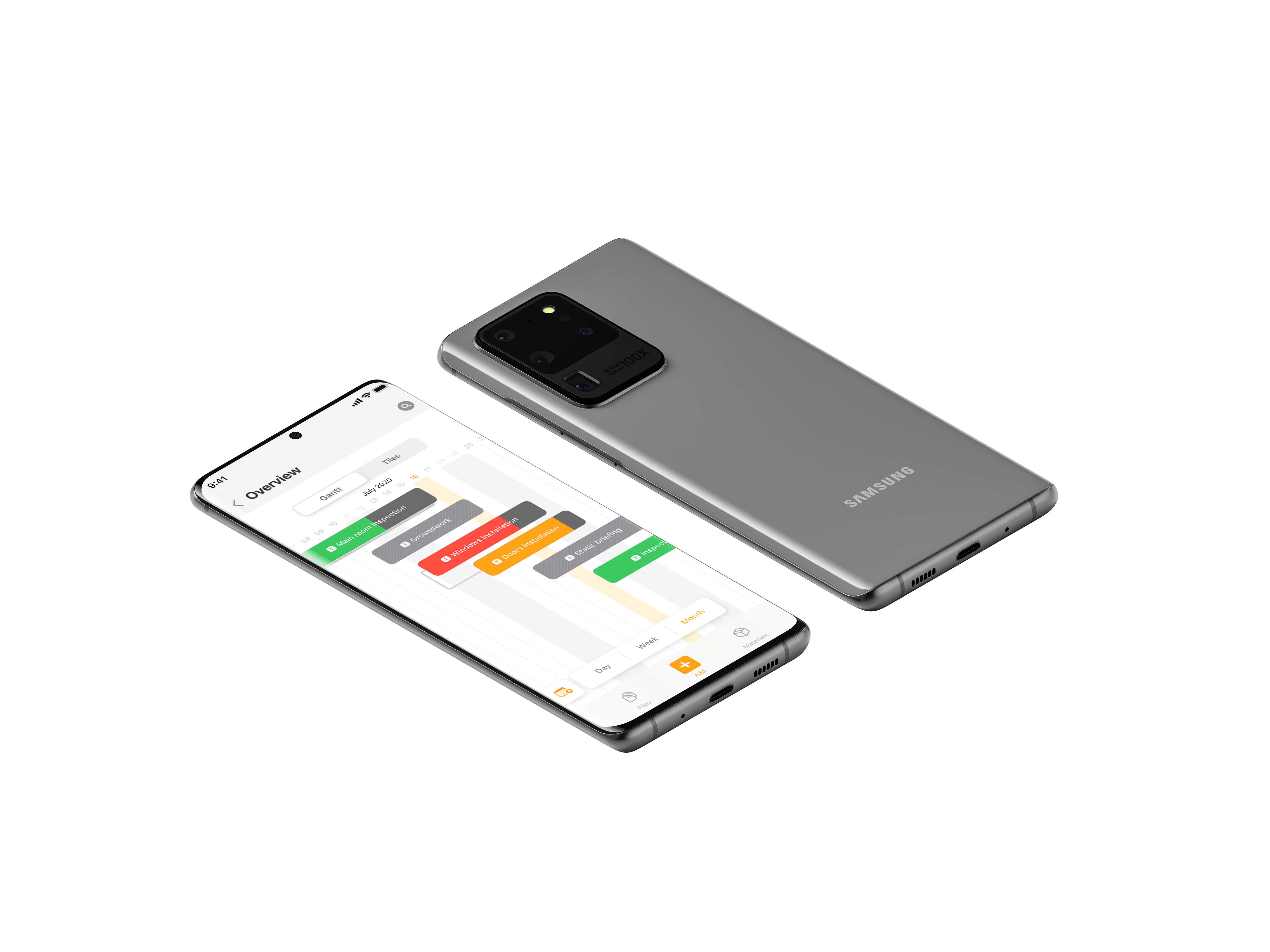 project management software task management function on samsung phone