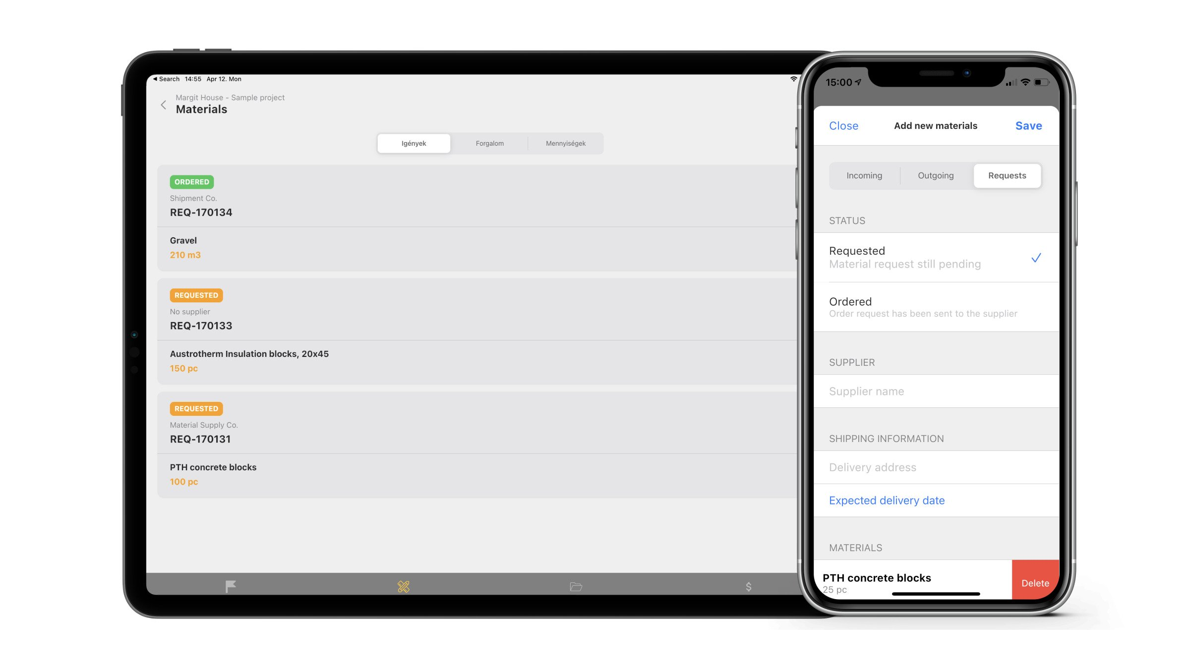 project management software cost tracking feature for ipad tablet